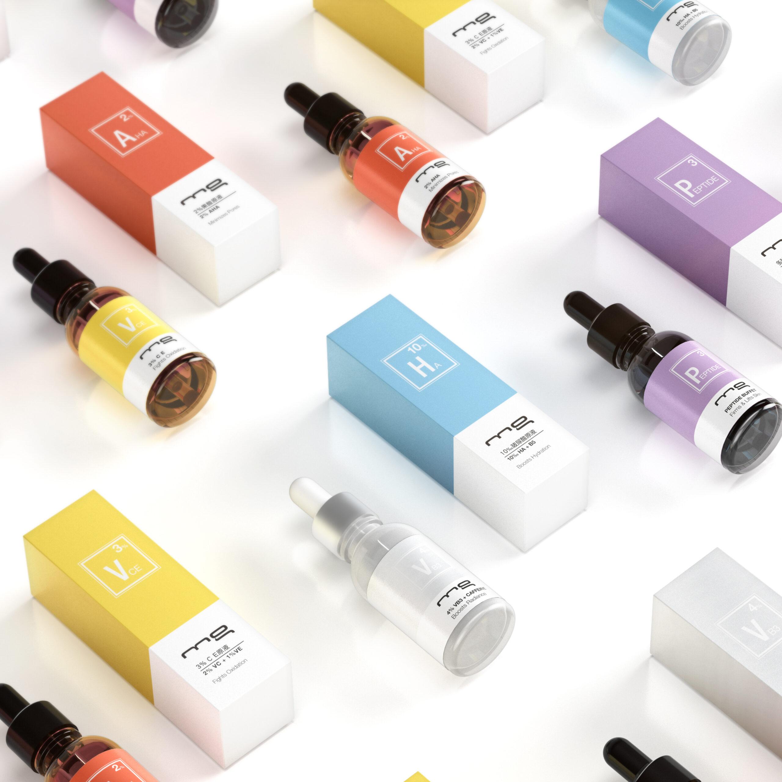 MG skin serums design creation-carré